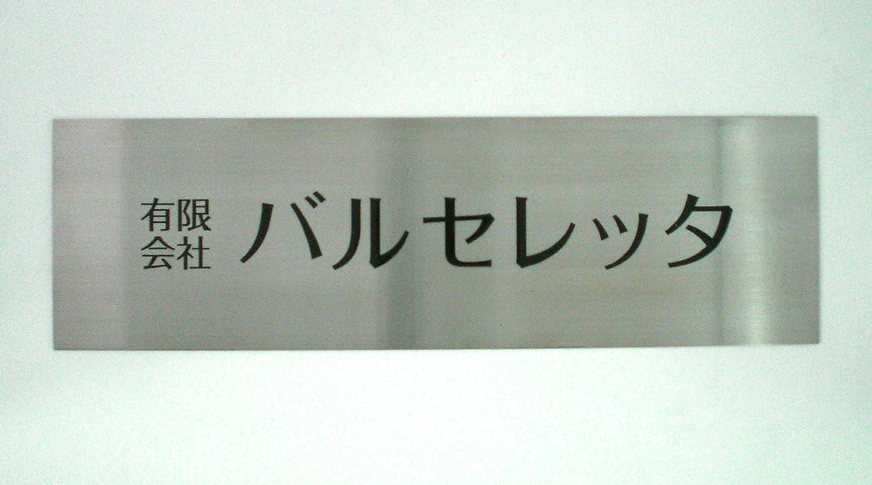 30cm×9cm 店舗会社用ステンレス製エッチング表札 :本格的エッチング加工により文字部分を彫り、凹となったところへ色を入れてお名前を表示しています。エッチング歴60年余の第一ネームが製作する製品です。 B0083Z8OQG 10000