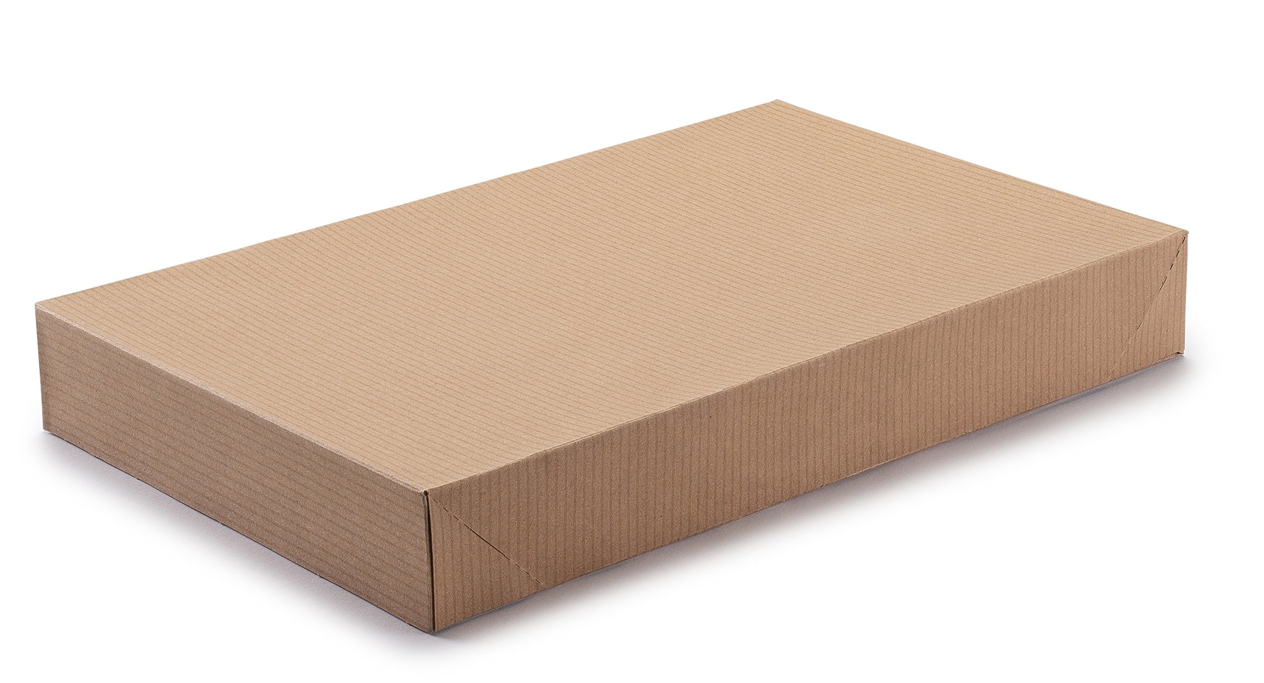 Incredible Packaging – Exceptional Apparel Decorative Gift Box - 15'' x 9.5'' x 2'' - Men Shirt Boxes - Women Top Box - for Apparel and Gifts with lids. (Natural Kraft (Brown), 100 Boxes)