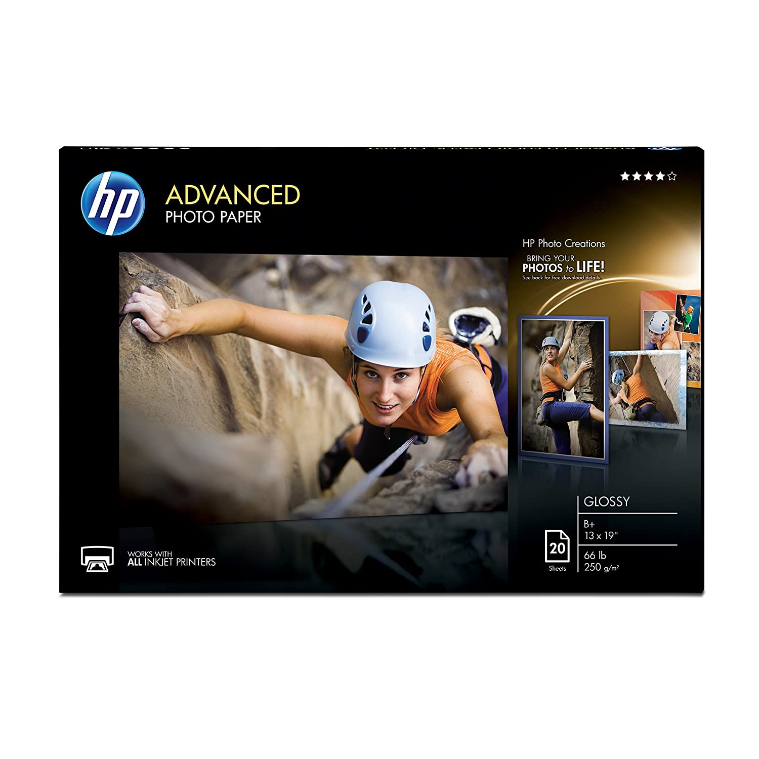 HP Photo Paper Advanced, Glossy, (13x19), 20 sheets (13x19) CR696A