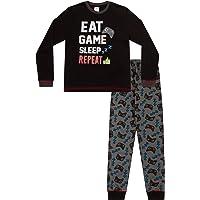 Boys Eat Game Sleep Controller Long Pyjamas 8 to 15 Years AOP
