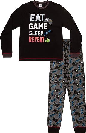 Pijama largo con controlador de sueño para niños de 8 a 15 años AOP