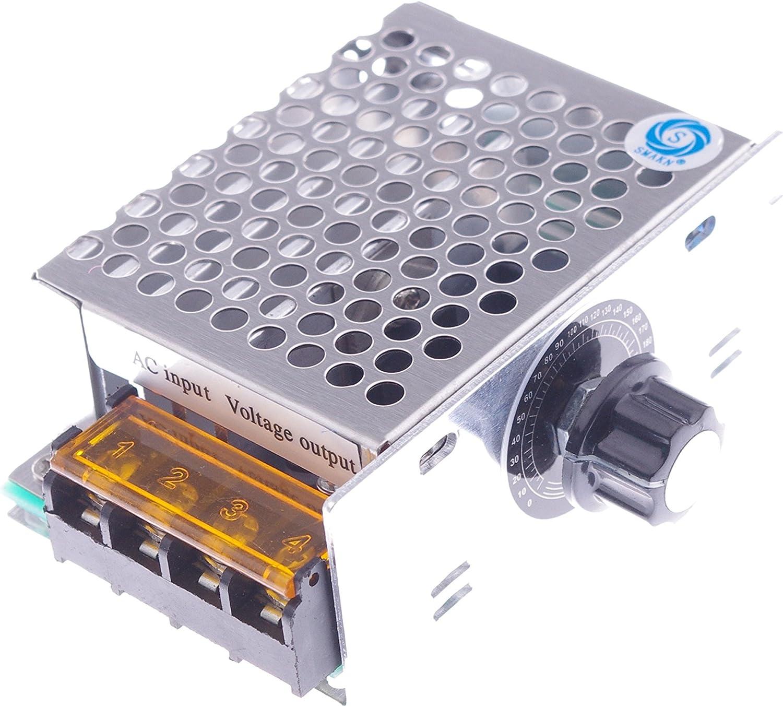 SMAKN AC 0-220V 20A Pulse Width Modulator PWM Electric Motor Speed Controller Max 4000W