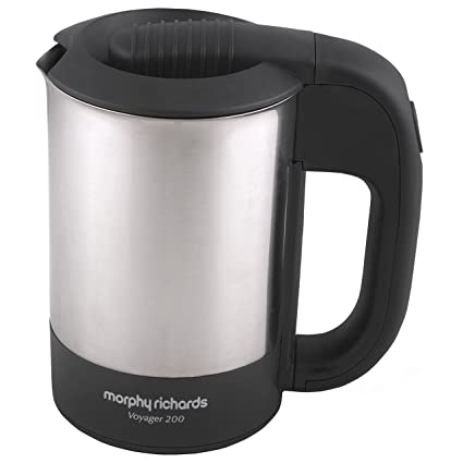 Morphy Richards Voyager 200 0.5-Litre 1000-Watt Stainless Steel Electric Travel Kettle