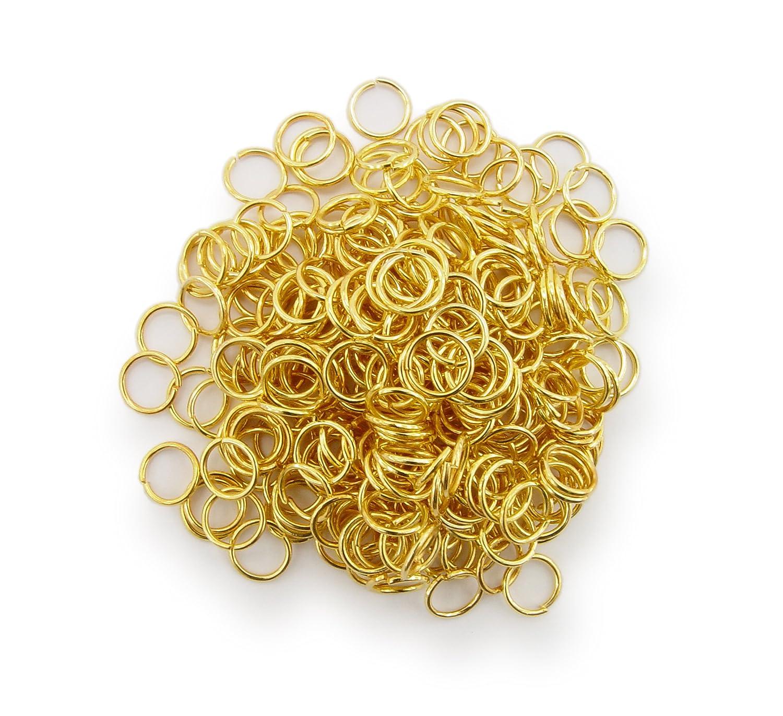 Binderinge / jump Rings 6mm Durchmesser Farbe Gold 15g ca.260 Stk ▶ Kostenloser Versand ◀ WEBandBUY