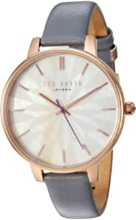 8a1a2fb15f63 Ted Baker Women s  Kate  Quartz Stainless Steel and Leather Dress Watch.