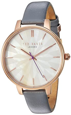9ef95e25b Amazon.com  Ted Baker Female    Kate  Stainless Steel Quartz Watch ...