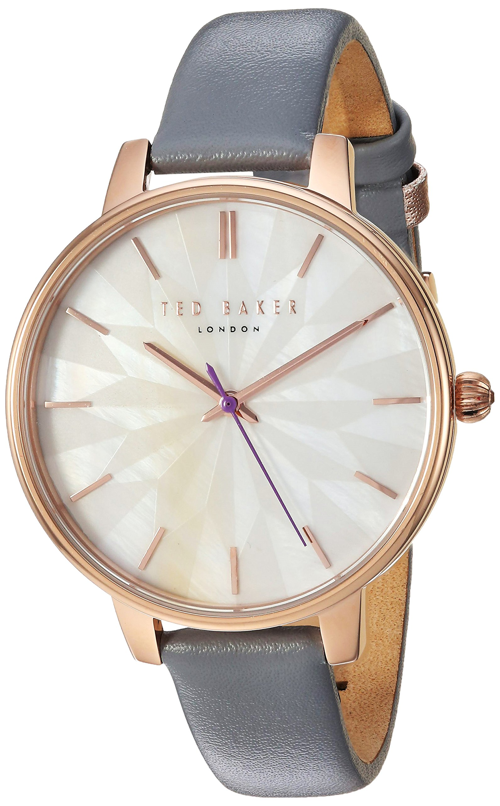 Ted Baker Women's 'KATE' Quartz Stainless Steel and Leather Casual Watch, Color:Grey (Model: TE50272005)