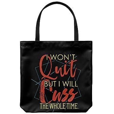 Amazon.com: Cuss bolsa de lona – I no dejar de entrenamiento ...