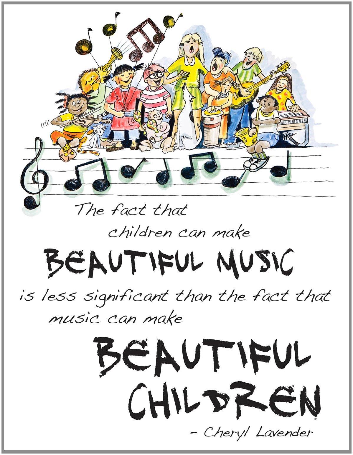 Beautiful Music Beautiful Children Poster 18 X 24 Cheryl Lavender