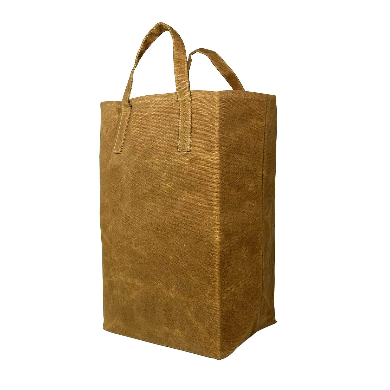ワックス キャナブ トート 食料品用 | 耐久性 高耐久 再利用可能 ショッピングバッグ 耐荷重60ポンド 18x6x17.5インチ B07R73Z1TH
