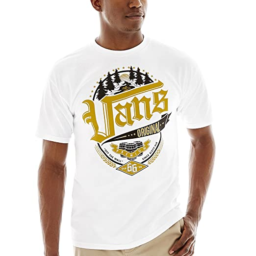 77bc3b65d554 Amazon.com  Vans Mens Old Style Graphic T-Shirt White S  Clothing