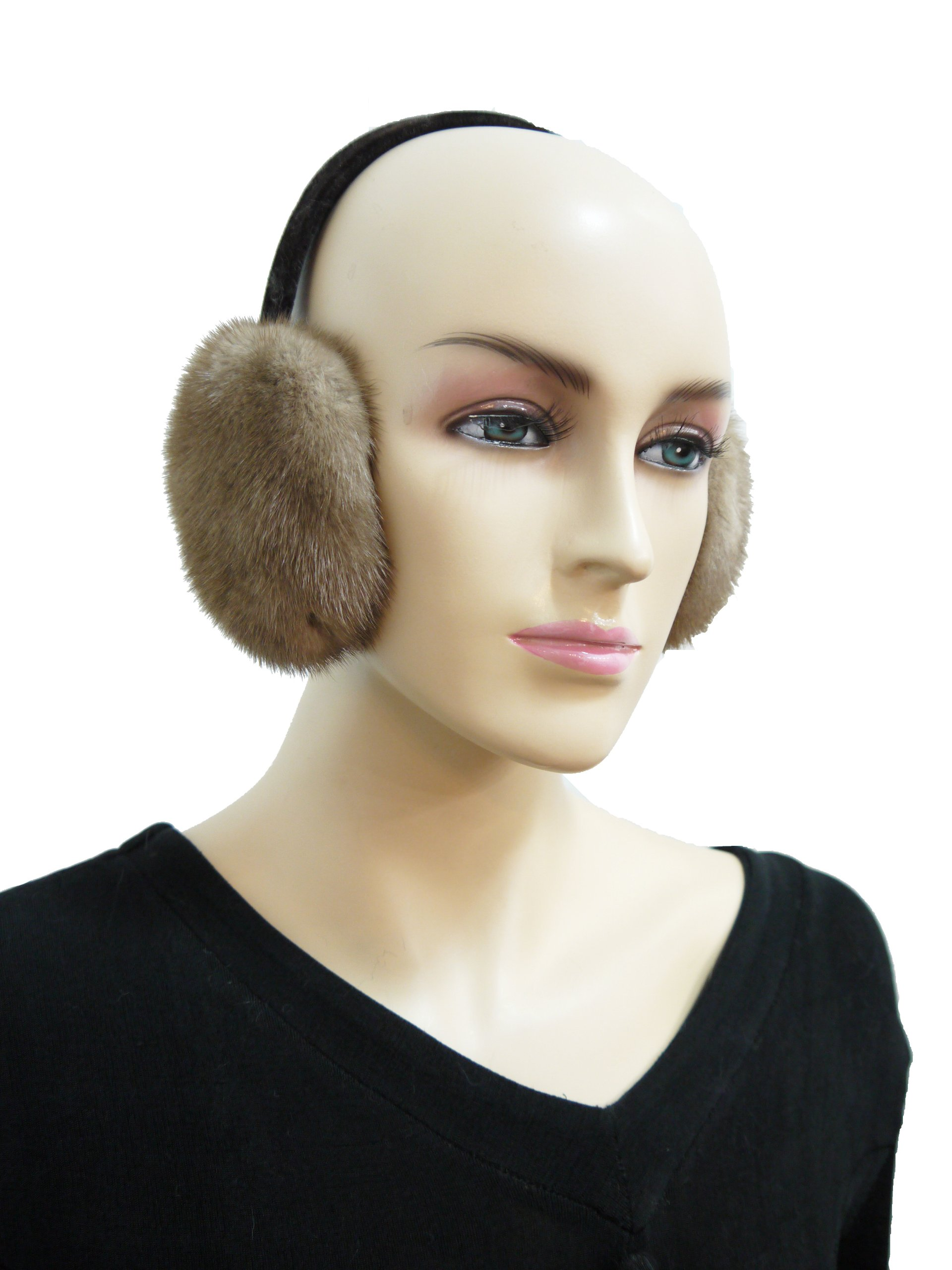 Mink Fur Earmuffs Beige