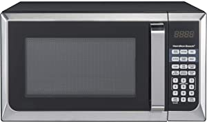 Hamilton Beach 0.9 cu.ft. 900W Microwave Oven, Stainless Steel