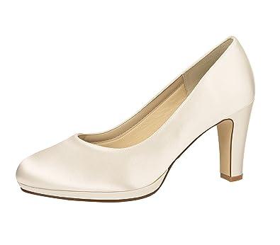 Elsa Color - Zapatos de vestir de Satén para mujer Blanco blanco marfil 39.5 XvTsZ