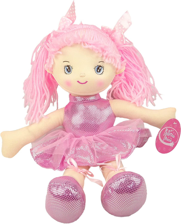 TOYLAND Muñeca Suave Bailarina Rosa 40cm - Muñecas Princesa
