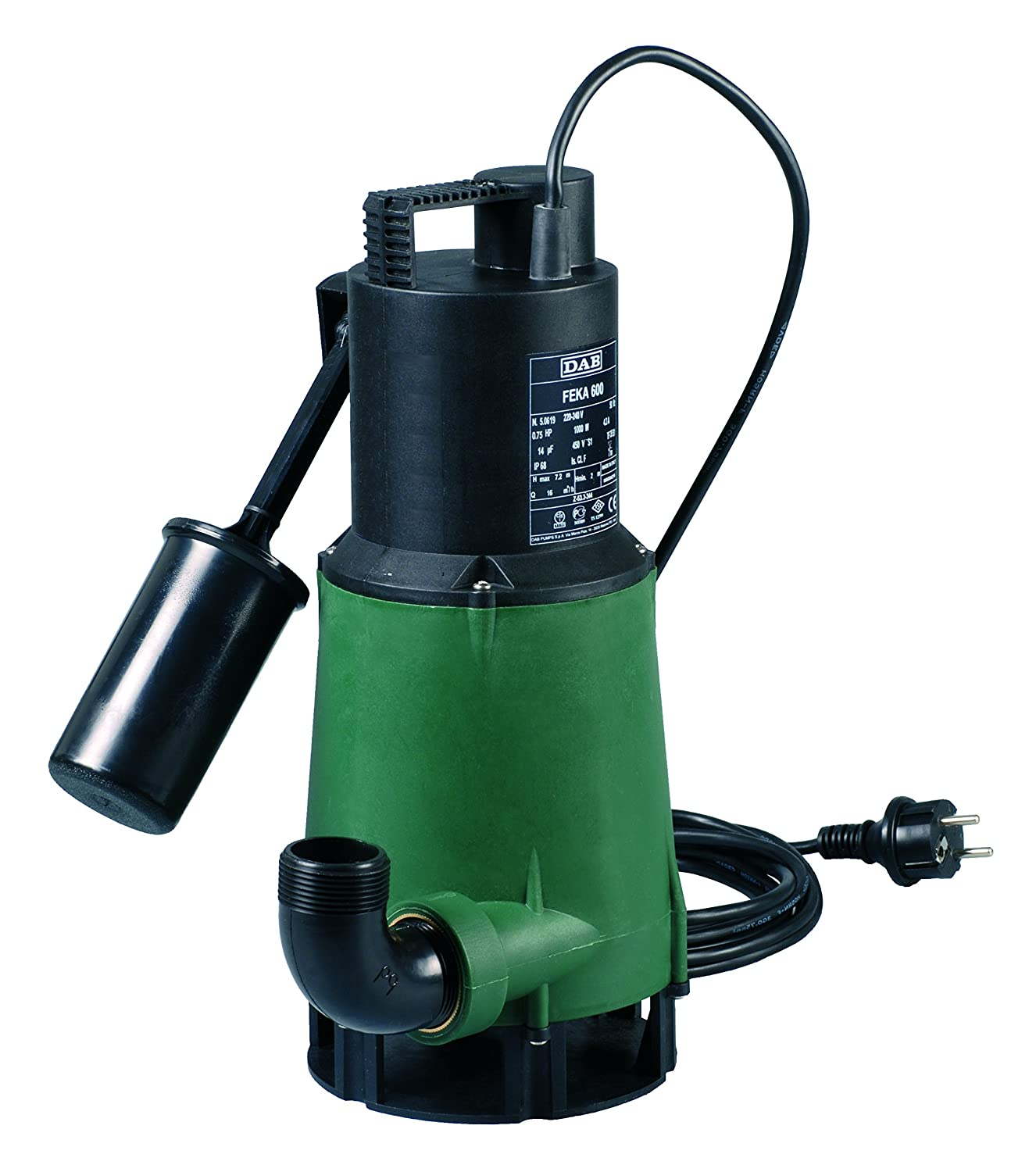 DAB Feka VS 750/M-A/ /Stainless Steel Juicer Submersible Pump with Float for Waste Water Drainage 0.75/kW//1/HP 1-Phase
