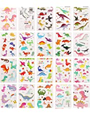 Zooawa 106 Pcs Dinosaur Temporary Tattoos for Kids, Boys and Girls [Packof20Sheet], Cute Dino Tattoos Sticker Party Favor Set - Colorful