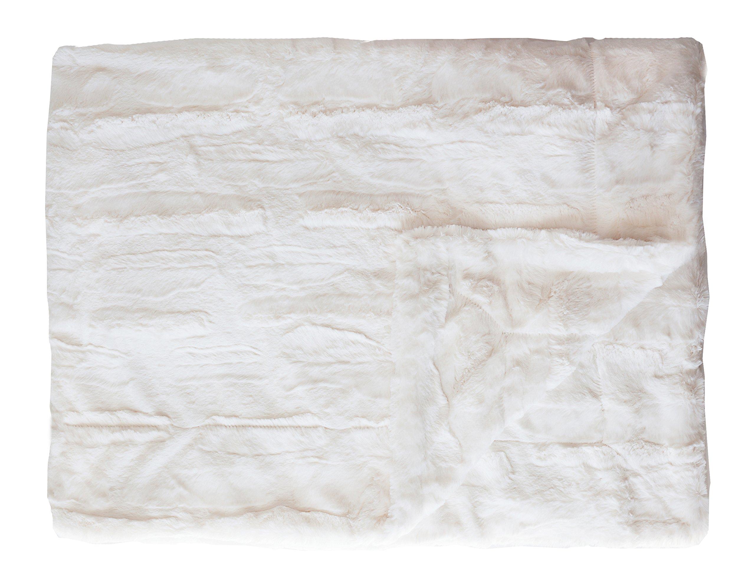 Minky Couture Premium Blanket - Soft, Warm, Cozy, Comfortable, Perfect Gift! (Grande, Sorbet Vanilla)