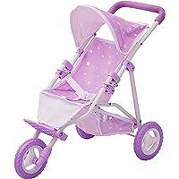 Olivia's Little World Passeggino da Jogging per Bambole, Colore Purple/White, OL-00006