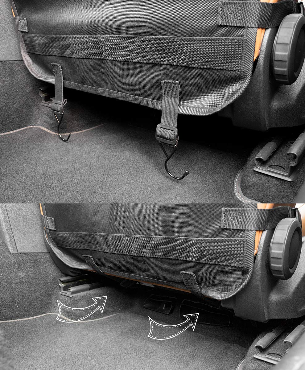 R/ückenlehnenschutz aus wasserdichtem Stoff LIONSTRONG R/ücksitz Organizer zum Schutz ihrer Autositze schwarz