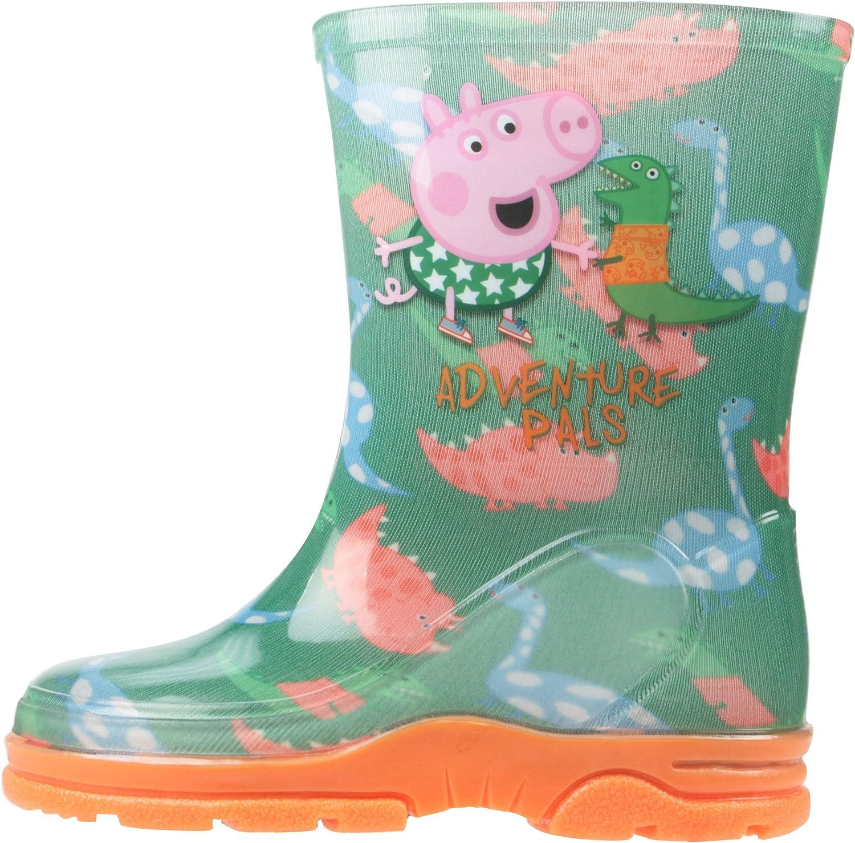 Boys Paw Patrol Green /& Blue Wellies Wellington Rain Boots Sizes UK Child 4-10