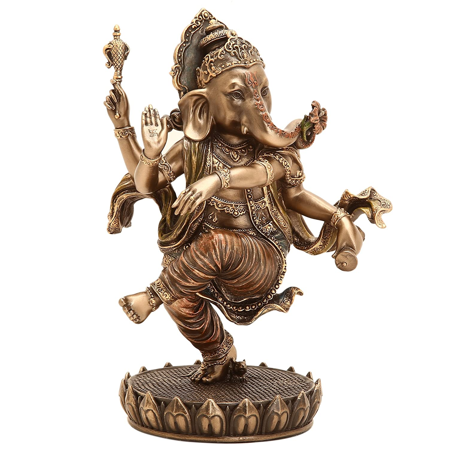 Buy SHIVIKA Bonded Bronze Lord Ganesha Statue Gajanana Figurine Ganpati Son  of Lord Shiva Parvati Idol for House Décor/Gifts/Diwali Gifts/House Warming  Gift Online at Low Prices in India - Amazon.in