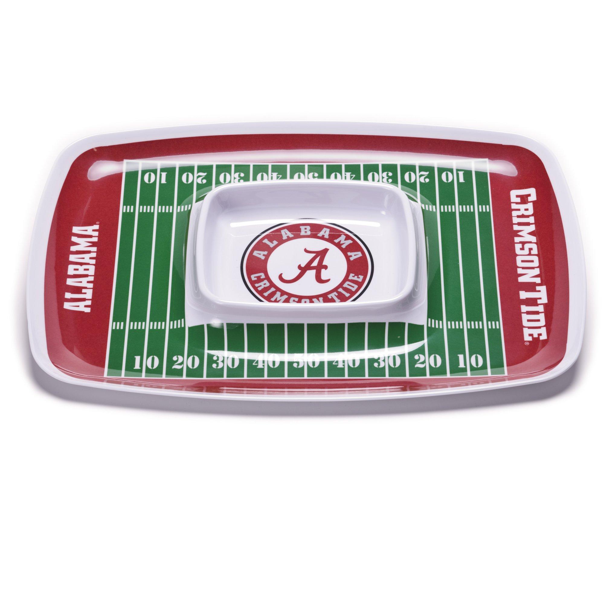 NCAA Alabama Crimson Tide Melamine Chip and Dip Tray