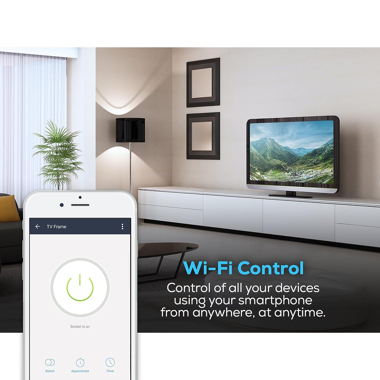 Geeni ENERGI Energy Tracking Wi Fi Smart Plug No Hub Required Works with Alexa Google Assistant & Microsoft Cortana Amazon