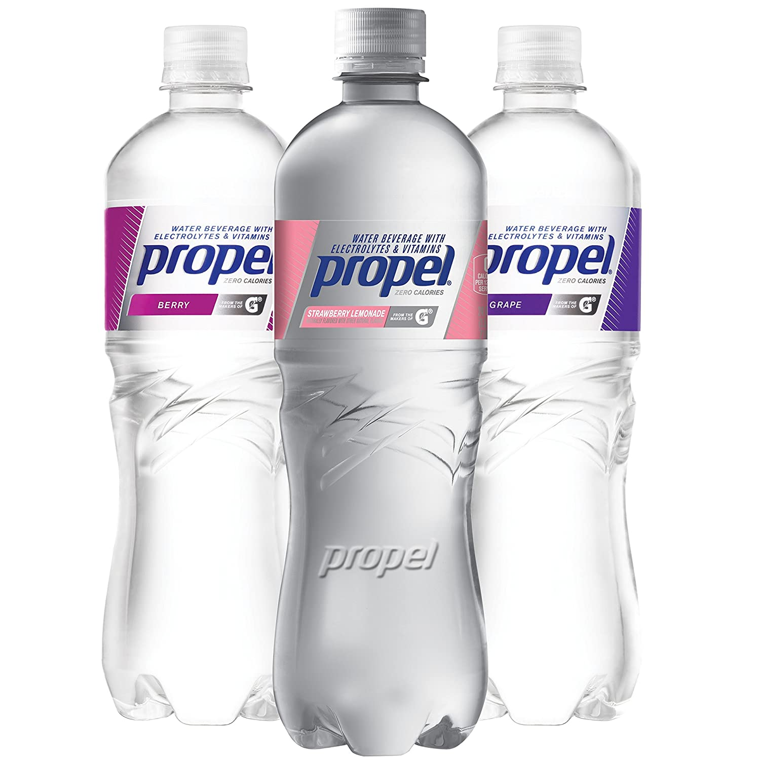 1dd8da050c Propel, 3 Flavor Variety Pack, Zero Calorie Water Beverage with  Electrolytes & Vitamins C&E, 24 Fl Oz (Pack of 12): Amazon.com: Grocery &  Gourmet Food