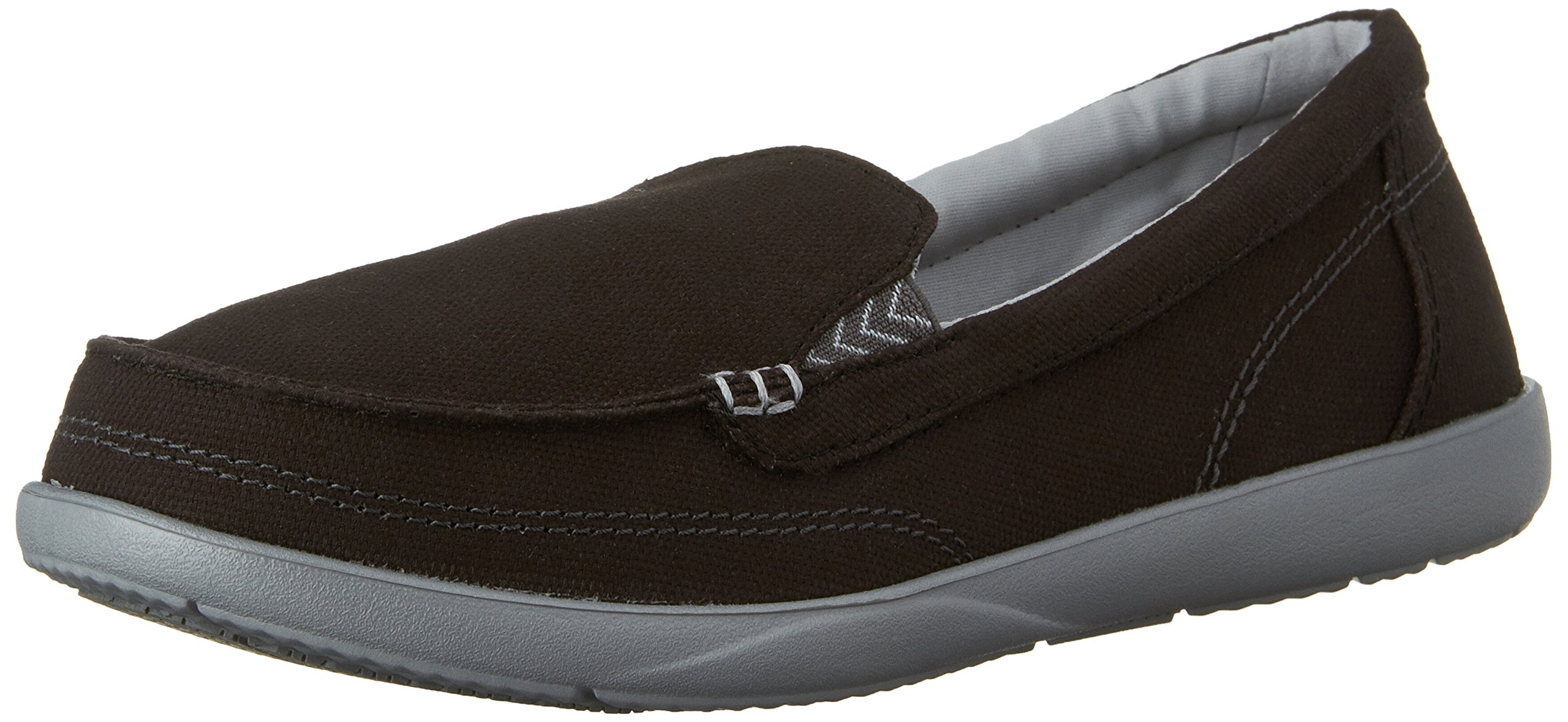 crocs Women's Walu II Canvas Loafer, Black/Graphite, 8 M US