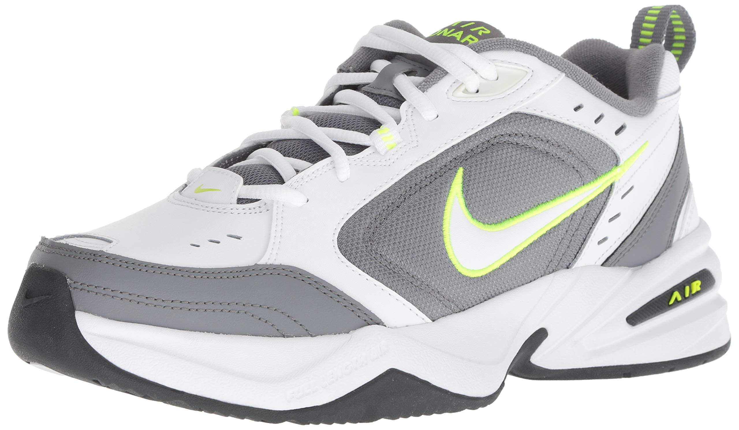 Nike Men's Air Monarch IV Cross Trainer, White/White - Cool Grey - Anthracite, 13 Regular US by Nike