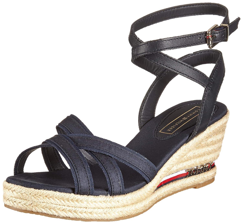 97d18b4dbd4a Amazon.com | Tommy Hilfiger Elba Signature Tape Wedge Womens Sandals ...