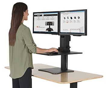 Amazoncom Victor DC350 High Rise Collection Dual Monitor Sit