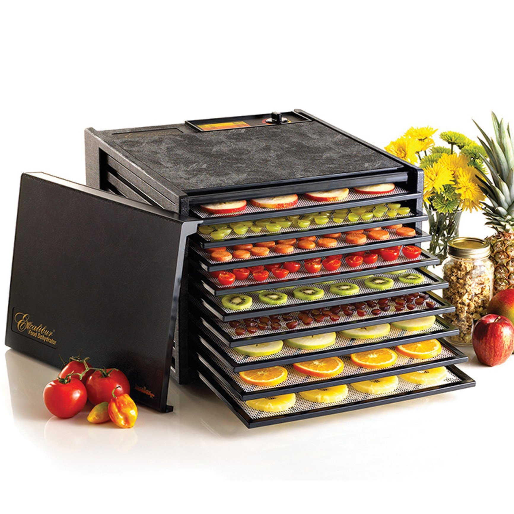 Excalibur 3900B 9 Tray Deluxe Dehydrator, Black by Excalibur