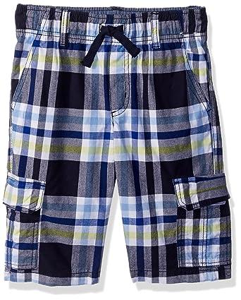 70f906c465 Amazon.com: Gymboree Boys' Little Drawstring Plaid Cargo Shorts: Clothing