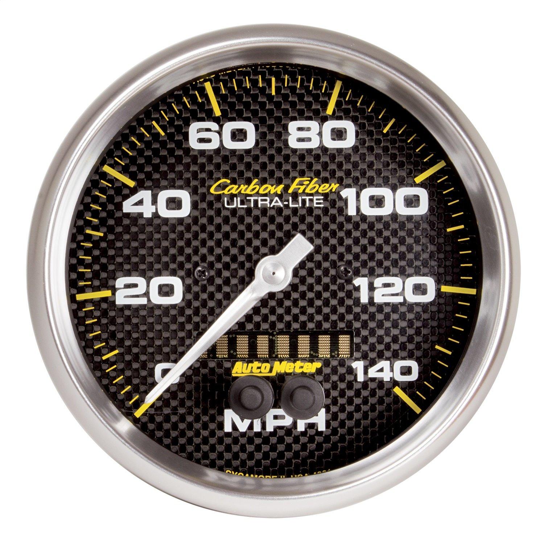 Auto Meter 4881 CARBON FIBER 5'' GPS Speedometer (0-140 MPH) by AUTO METER