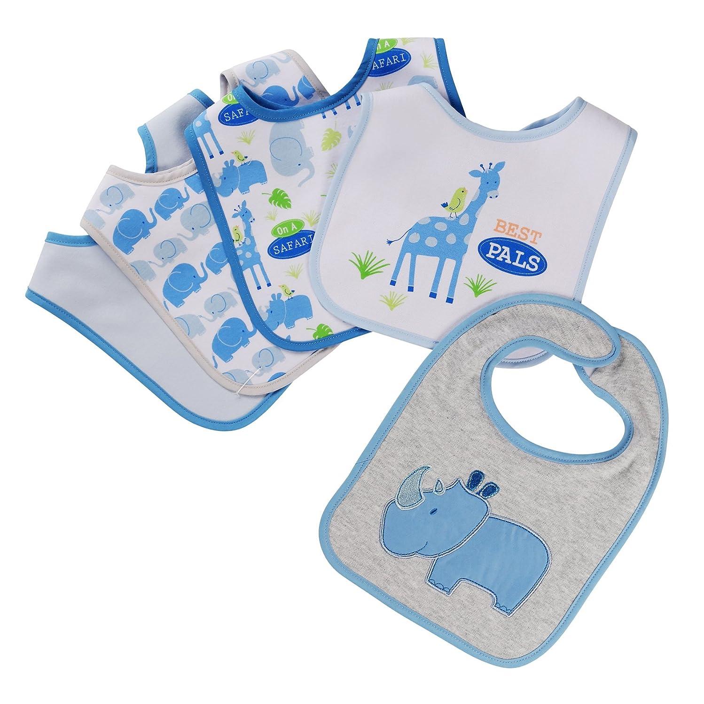 Amazon.com: Botones y puntadas 5 piezas baberos, Rhino: Baby