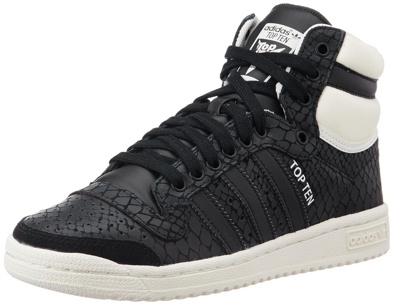 adidas Damen Top Ten Hi Basketballschuhe Schwarz (Core Black/Core Black/Off White)