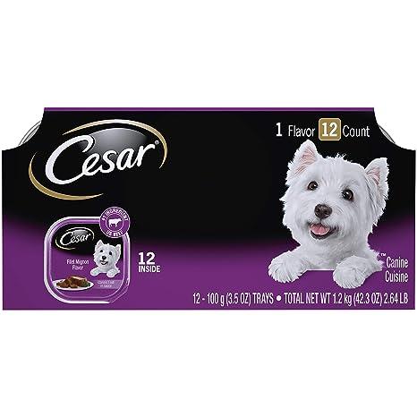 Amazon.com: Cesar Clásicos Filet Mignon Sabor adulto Wet Dog ...