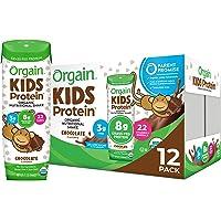 Orgain Organic Kids Protein Nutritional Shake, Chocolate - Great for Breakfast & Snacks, 26 Vitamins & Minerals, 10…