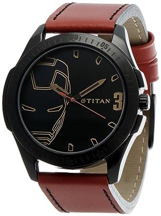 e610fc17d Buy Titan Iron Man 3 Analog Black Dial Men s Watch - 1587NL01 Online ...