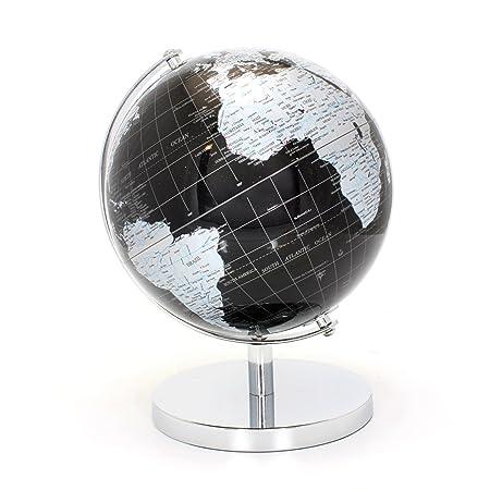 36555625fb LEONARDO Black   Silver World Globe 27cm