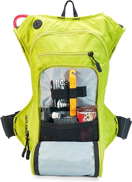 USWE Sports Outlander 9 Mochila de hidratación con vejiga, Unisex, Amarillo, 9 litres