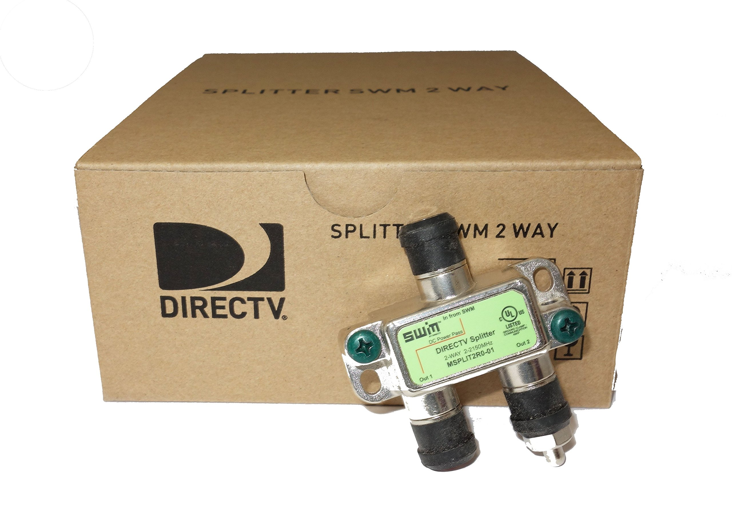 Directv SWM Approved 2-Way Wide Band Splitter (Case of 20) by Zinwell