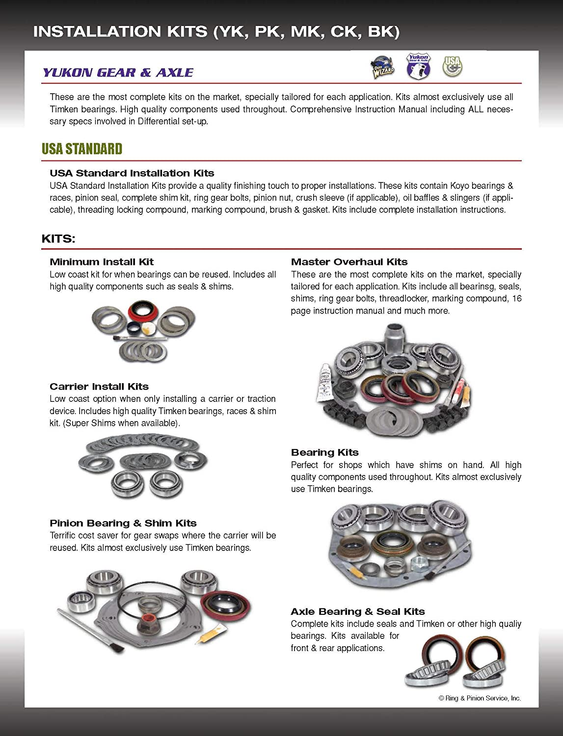Yukon YPKD44-PC-SM Power Lok Replacement Smooth Clutch Set for Dana 44 Differential