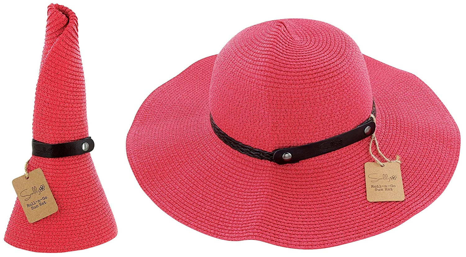 3a015617a4475 Sunlily Roll-n-Go Travel Sun Hat (Coral) at Amazon Women s Clothing store
