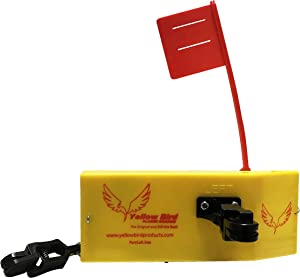 """Yellow Bird Fishing Products""""Totally Redesigned"""" New 12"""" Extra Large Planer Board (700P Port Side Planer Board w/Working Tattle Flag, Enclosed Back, Adjust Weight & (2) New XL Pinch Pad Releases)"""