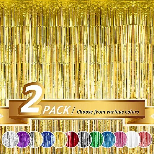Cortina de flecos de aluminio para decoración de bodas, cumpleaños y celebraciones especiales