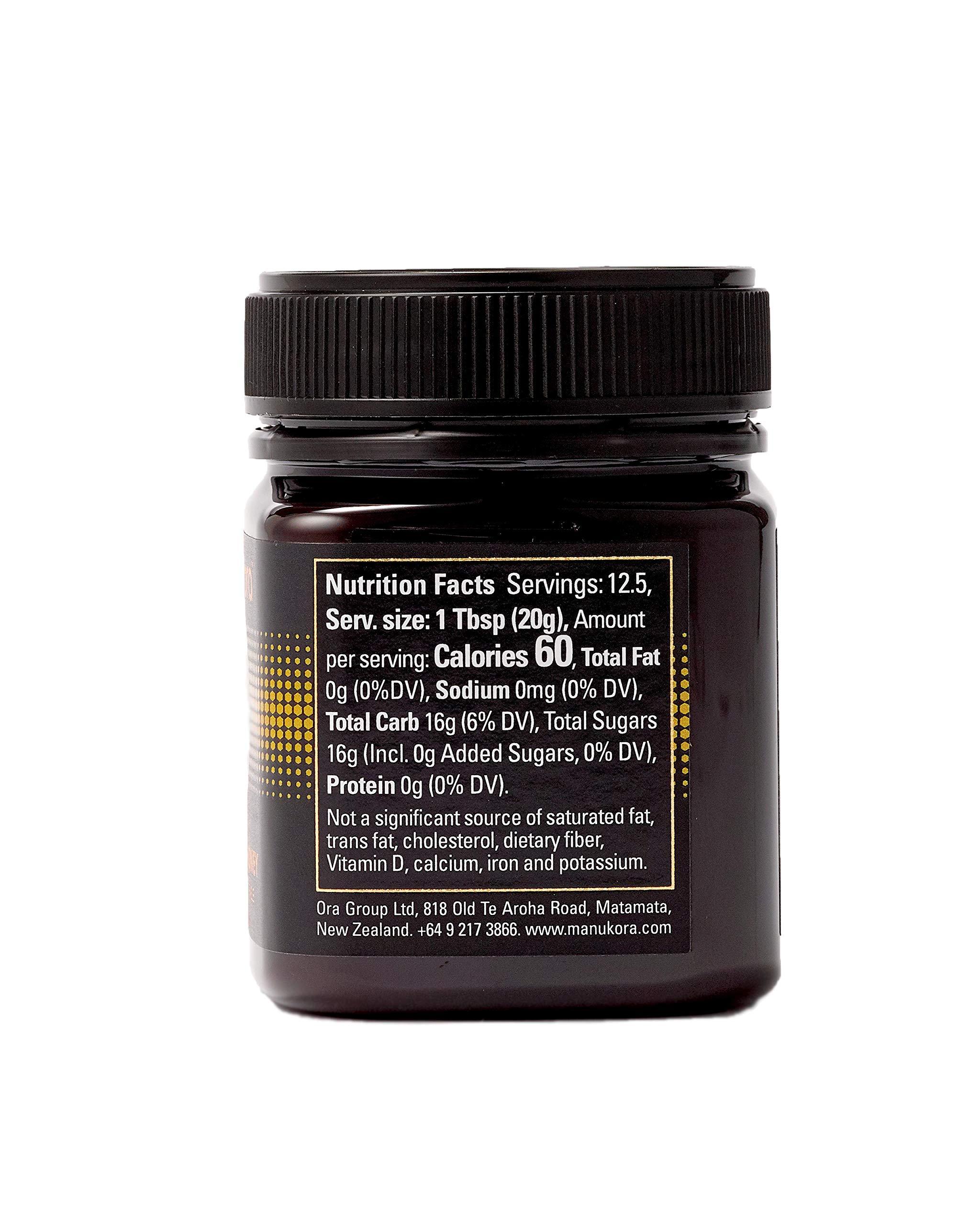 Manukora UMF 20+/MGO 830+ Raw Mānuka Honey (250g/8.8oz) Authentic Non-GMO New Zealand Honey, UMF & MGO Certified, Traceable from Hive to Hand by Manukora (Image #4)