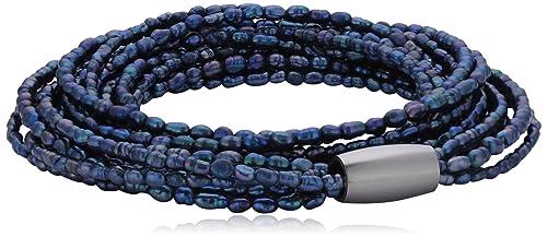 Story Armband petrol Perle 54 cm 1304752-54